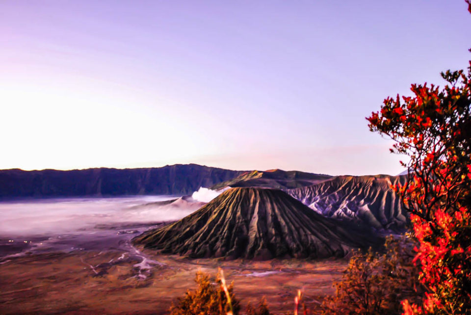 Mount Bromo sunrise view from Mount Penanjagan