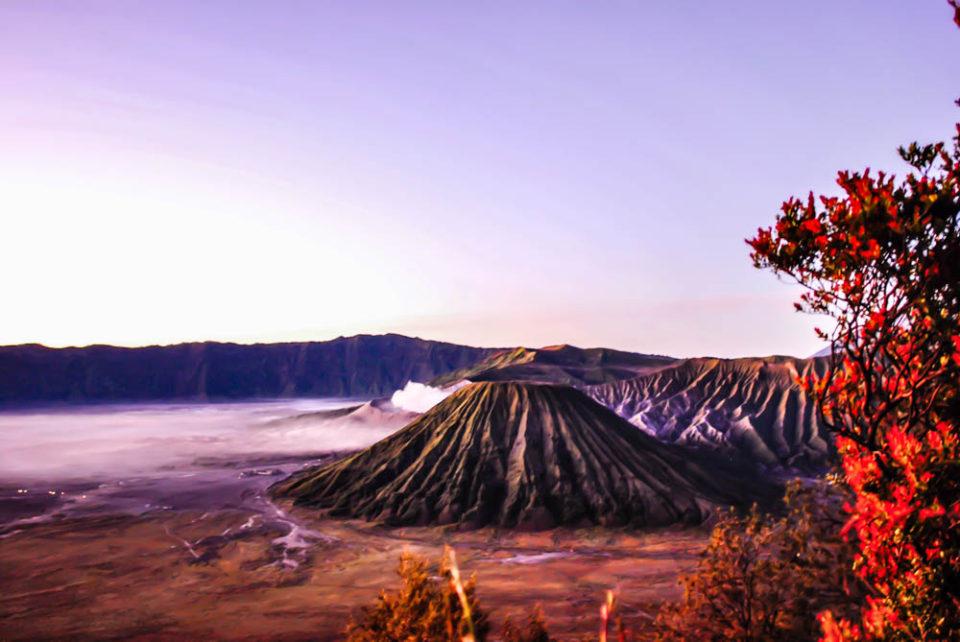 Mount Bromo sunrise view from Mount Penanjagan
