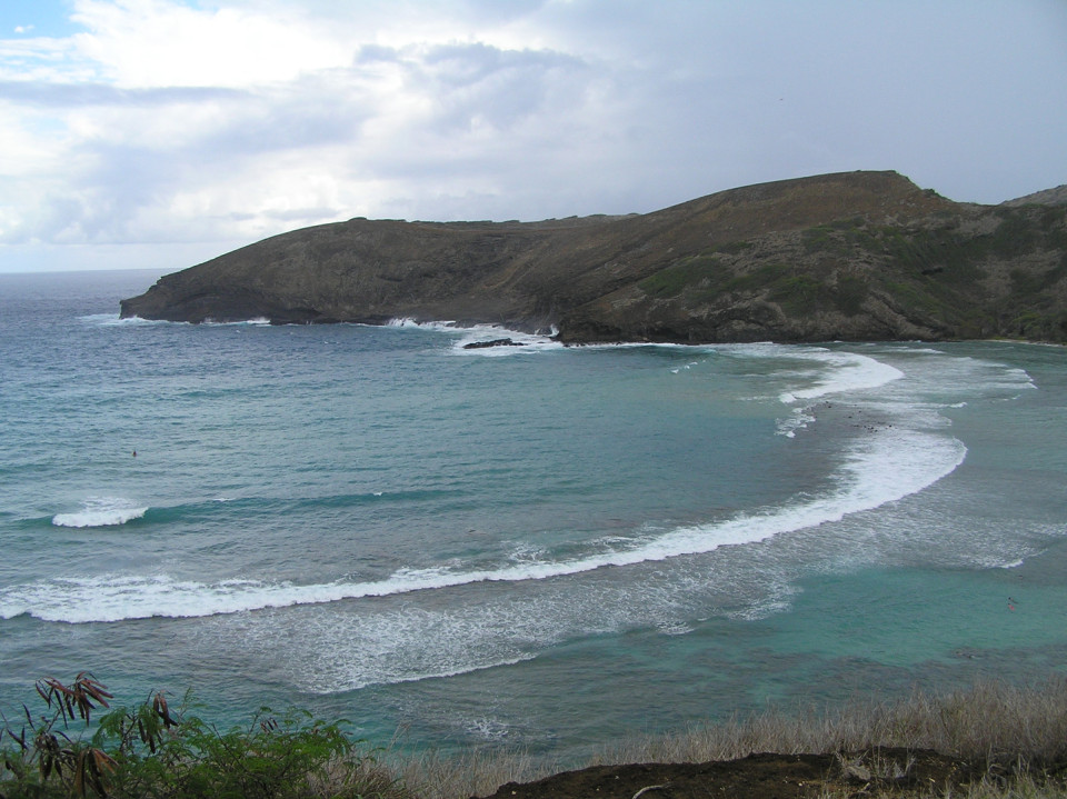 Hanauma Bay, Oahu, Hawaii - Excellent place for snorkeling. Snorkeling kits can be rented at shops nearby.