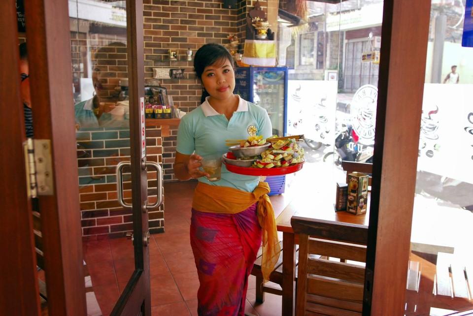 Pretty Girl in a Coffee shop in Ubud