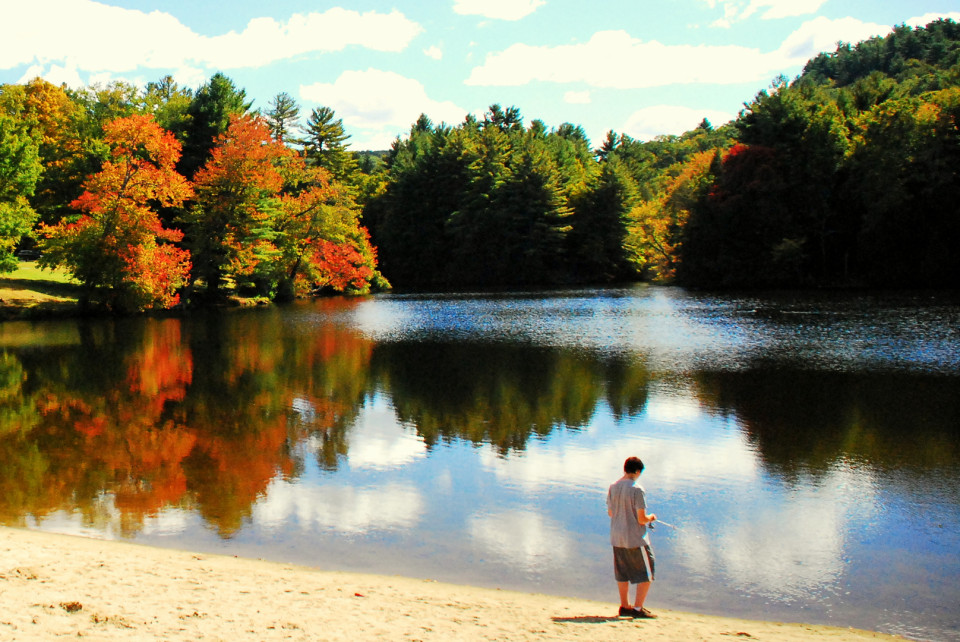 Black Rock State Park, Watertown, Litchfield County, CT. The Black rock pond itself offers swimming and fishing options