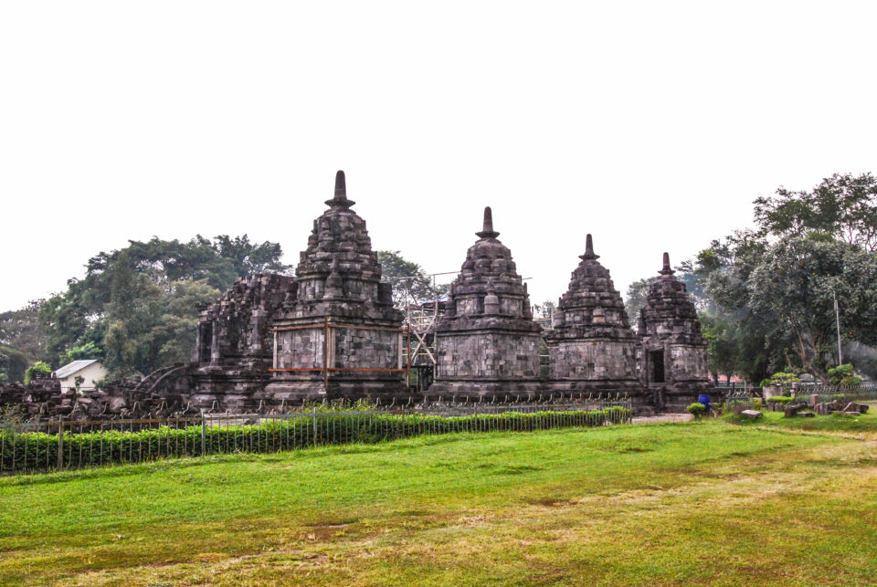 Candi Lumbung - with the main temple behind while Perwara temples seen in front