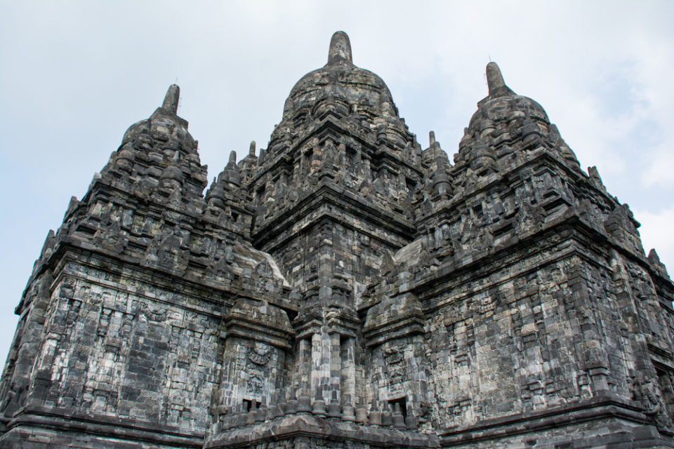 Few of the 20 corners of the main temple visible