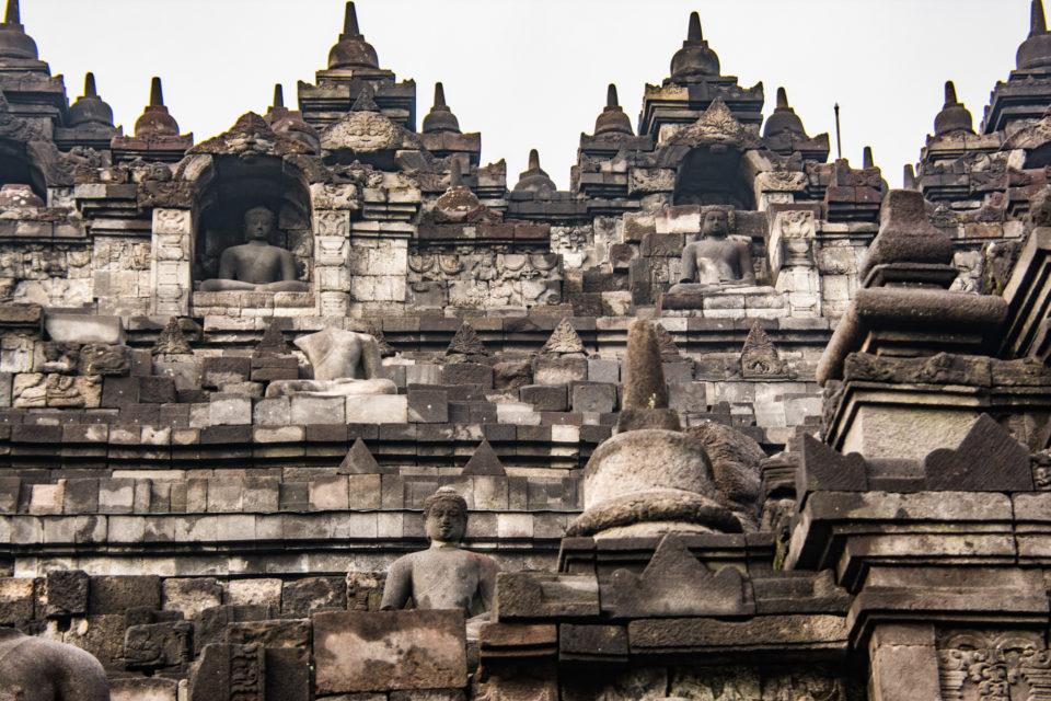 Couple of levels with Buddha statues. Photo Credits – Hema Saran