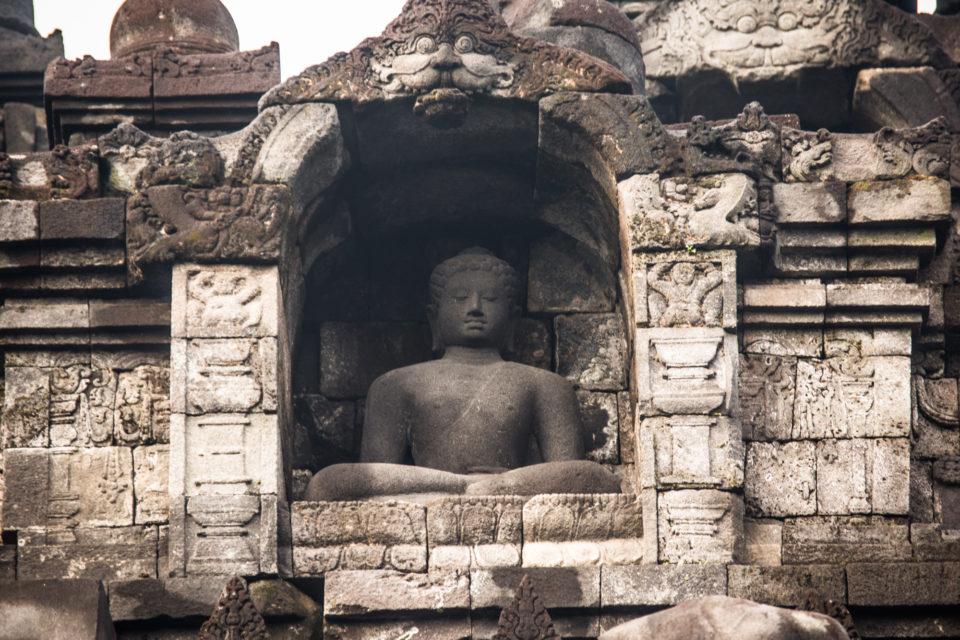tatue of Buddha framed with Batara Kala, God of destructions. Photo Credits – Hema Saran