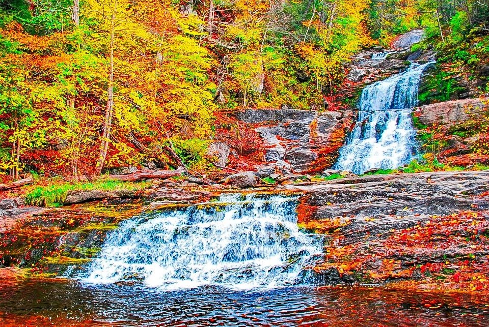 Kent Falls, CT - Again there is a nice short hike up the falls but sure to leave one gasping for breath.