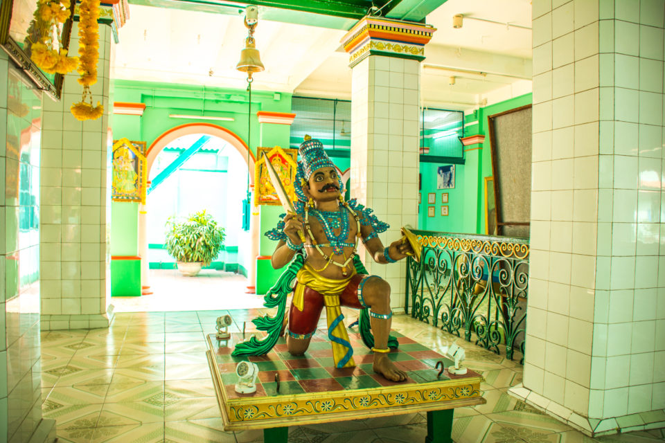 Idumban at Thendayuthapani Hindu temple at Ho Chi Minh City