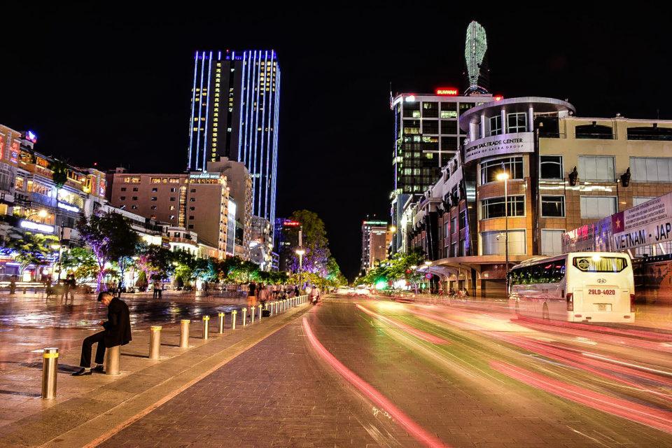 Nighttime at Saigon or Ho Chi Minh City