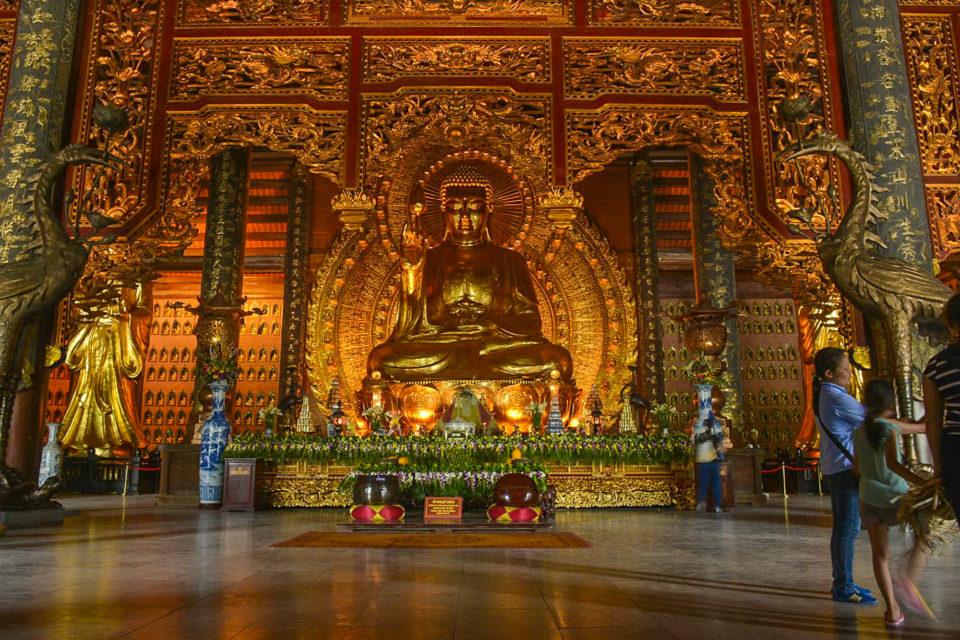 Inside the Pagoda at Ninh Binh at Northern Vietnam