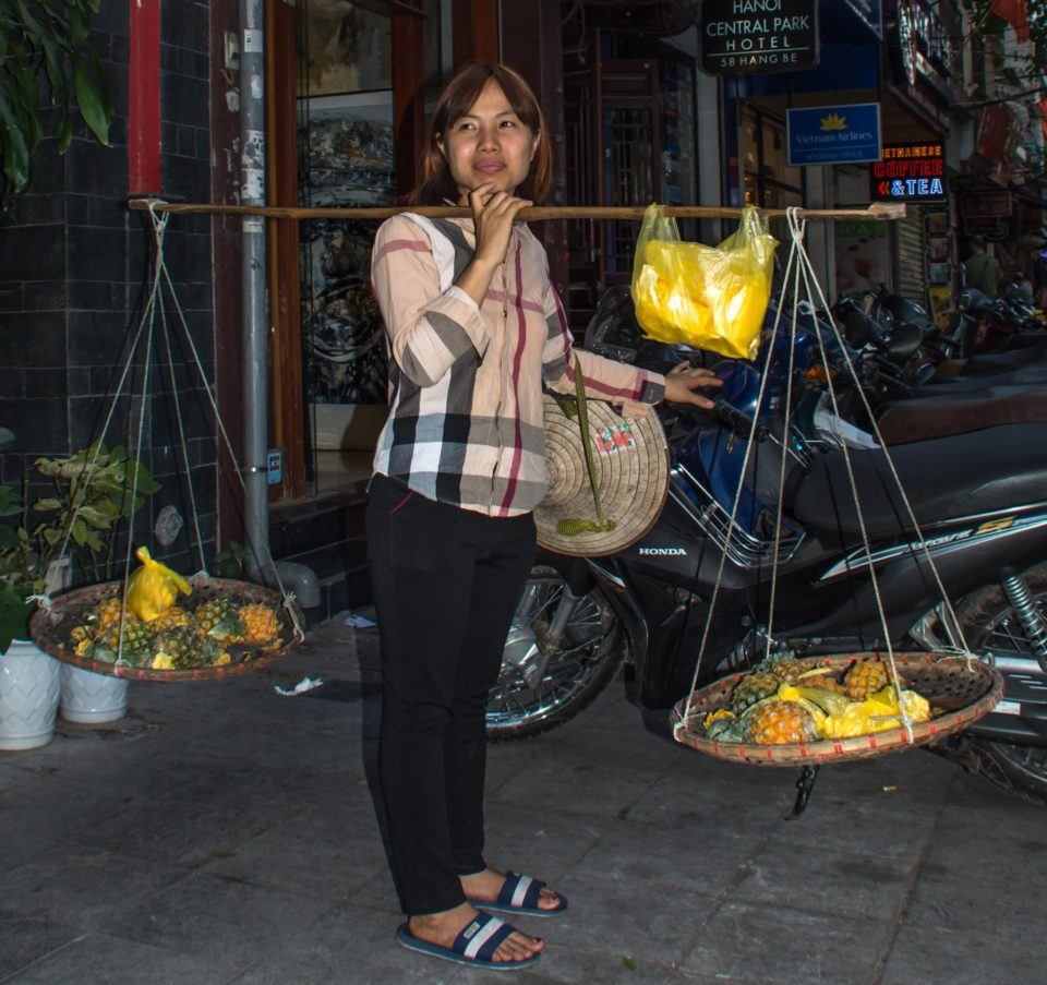 Hawker in the streets of Hanoi