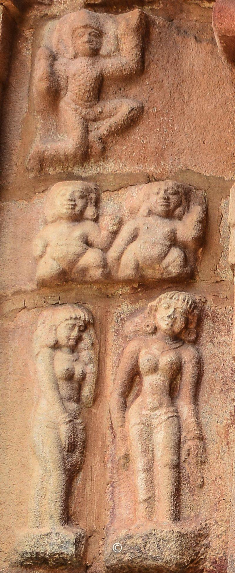 Rightside of the panel - Chandran on top, Boodha-Ganams in the middle, love-stricken women in the bottom