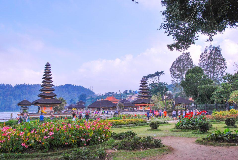 Left to Right - 3 storey Pelinggih - Pura Lingga Petak, 11 storey Pelinggih - Telengin Segara, 7 storey Pelinggih - Pura Penataran Agung