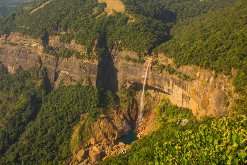 Nohkalikai Falls - It is the tallest plunge waterfall in India