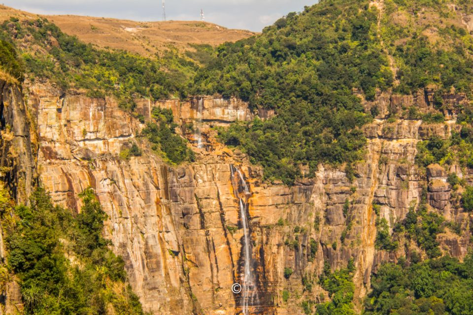 Dain Thlen Falls from a distance
